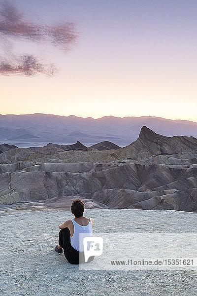 Zabriskie Point  Death Valley National Park  California  United States of America  North America