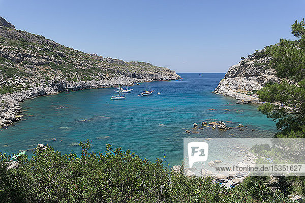 Anthony Quinn Bay  Rhodes  Dodecanese  Greek Islands  Greece  Europe
