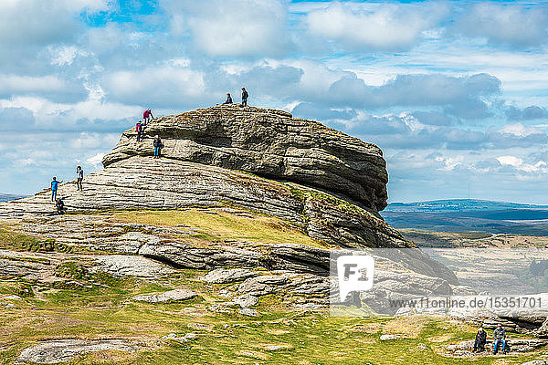 Haytor Rocks,  Ilsington,  Dartmoor National Park,  Devon,  England,  United Kingdom,  Europe