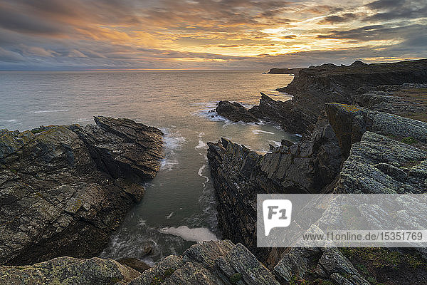 Dramatic cliffs of the Anglesey Coast  Anglesey  North Wales  United Kingdom  Europe