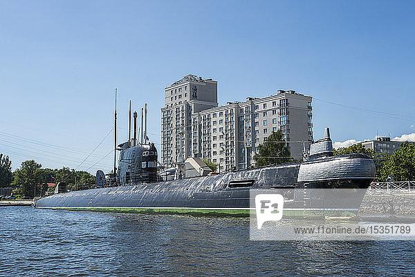B 413 submarine in the World Ocean Museum  Kaliningrad  Russia  Europe