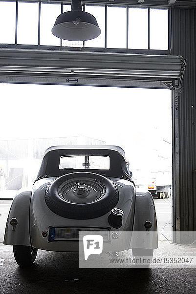 Vintage car at Nuerburgring race track  BMW 328