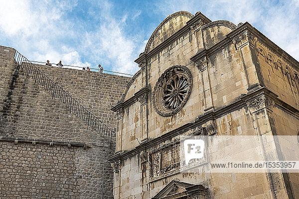 St Saviour Church and City Wall near the Pile Gate; Dubrovnik  Dubrovnik-Neretva County  Croatia