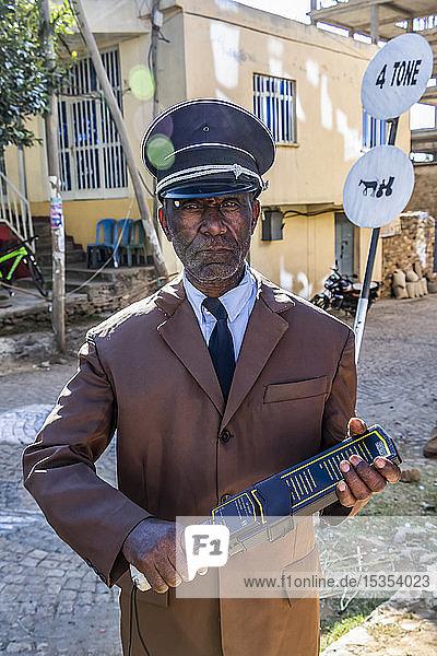 Security guard; Axum  Tigray Region  Ethiopia