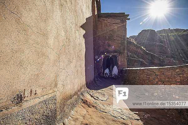 Abreha we Atsbeha rock-hewn church; Tigray Region  Ethiopia
