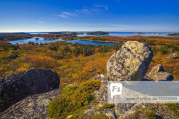Coastal Wilderness With A View Of Rogue's Roost Inlet And The Village Of Prospect In The Distance  Nova Scotia
