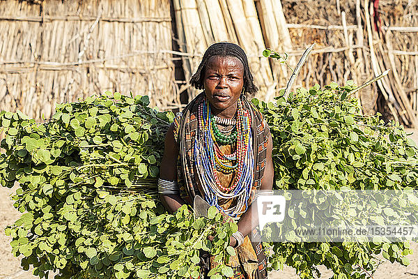 Arbore woman in Arbore Village  Omo Valley; Southern Nations Nationalities and Peoples' Region  Ethiopia