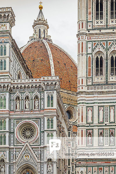 Detail of Florence Cathedral; Florence  Italy