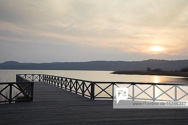 Abendstimmung am Schmachter See  Ostseebad Binz  Insel Rügen  Mecklenburg-Vorpommern  Deutschland  Europa
