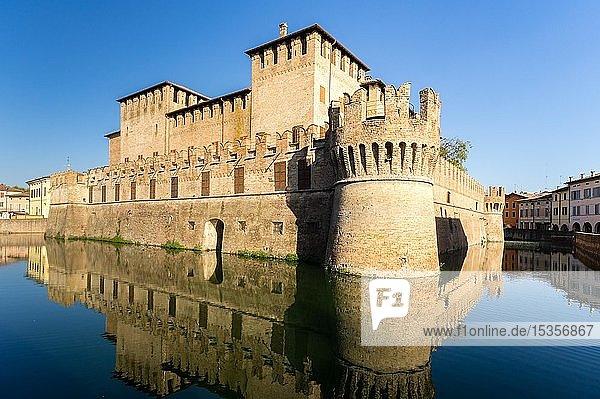 Die Wasserburg Rocca Sanvitale  Fontanellato  Provinz Parma  Emilia-Romagna  Italien  Europa