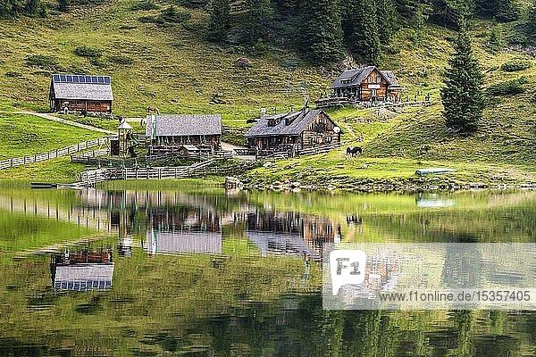 Fahrlechhütte und Duisitzkarseehütte am Duisitzkarsee  Schladminger Tauern  Bundesland Schladming  Österreich  Europa