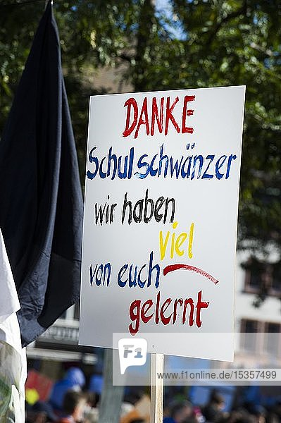 Plakat  Klimastreik Demonstration 20.09.2019  fridays for future  Freiburg im Breisgau  Baden-Württemberg  Deutschland  Europa