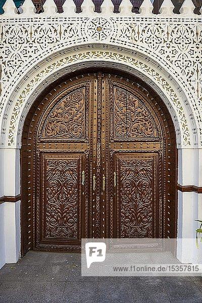 Dekorierte Holztür  Al Taybat City Museum  Altstadt  Unesco Weltkulturerbe  Jeddah  Saudi-Arabien  Asien