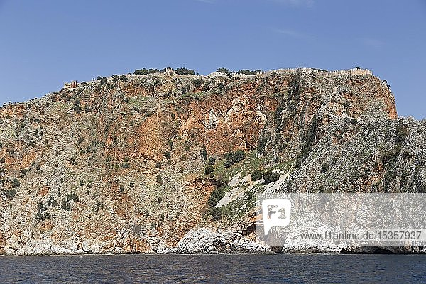 Festung Ehmedek auf dem Burgberg  Alanya  Provinz Antalya  Türkei  Asien
