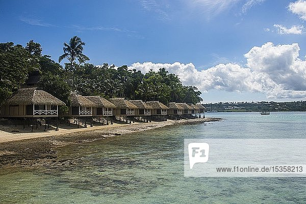 Touristische Unterkünfte  Wasserbungalows auf Iririki Island  Port Vila  Efate  Vanuatu  Ozeanien