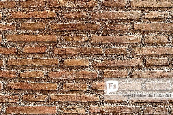 Backsteinmauer  Alhambra  Granada  Andalusien  Spanien  Europa