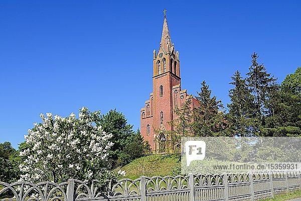 Kirche  Lubin  Swinedelta  Insel Wollin  Westpommern  Polen  Europa