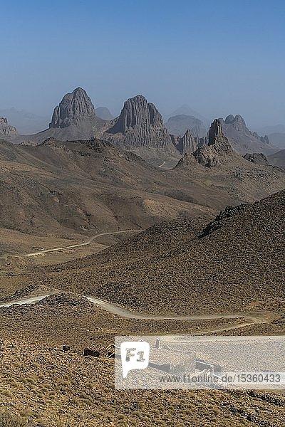 Berge von Assekrem  Tamanrasset  Hoggar-Berge  Algerien  Afrika