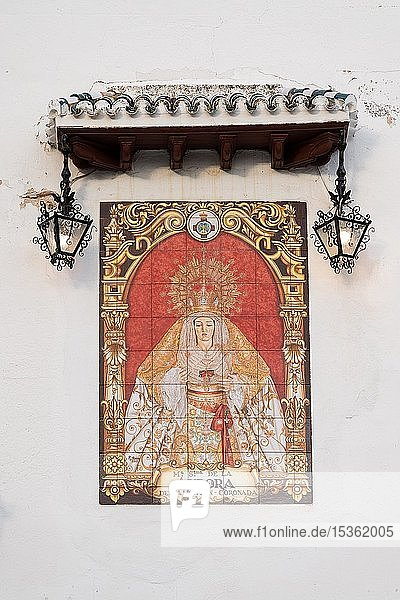 Maria  Mater Dolorosa  Kachelbild  Granada  Andalusien  Spanien  Europa