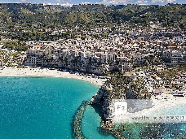Aerial view  city view  Tropea  Calabria  Italy  Europe