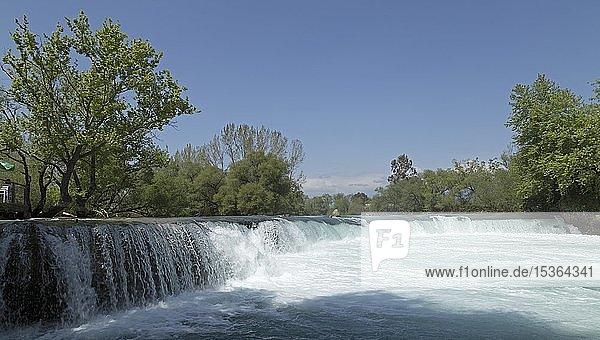 Büyük ?elale oder Großer Manavgat Wasserfall am Fluss Manavgat  bei Manavgat  Provinz Antalya  Türkei  Asien