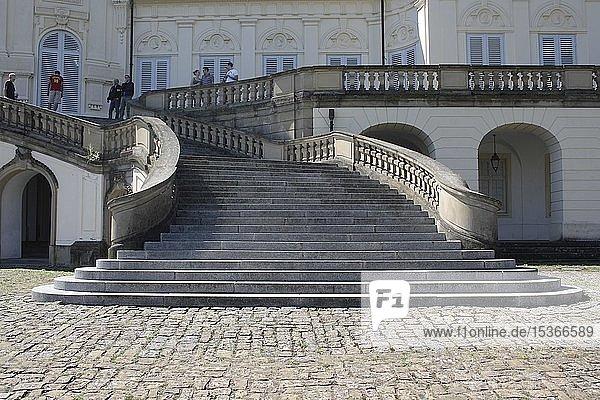 Treppenaufgang zum Schloss Solitude  Nordansicht  Stuttgart-West  Stuttgart  Oberschwaben  Baden-Württemberg  Deutschland  Europa