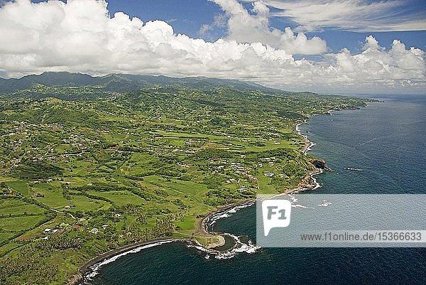 Luftaufnahme der Insel St. Vincent  St. Vincent und die Grenadinen  Mittelamerika