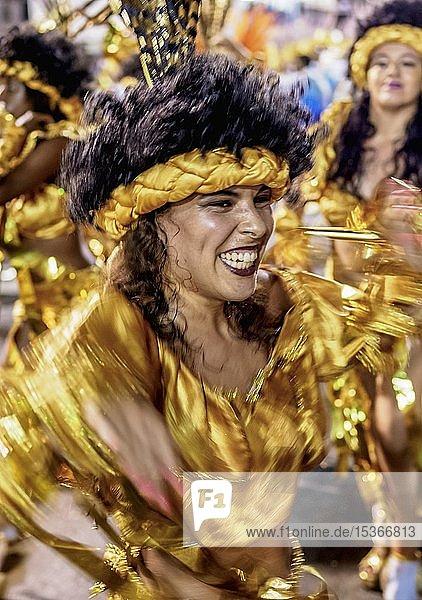 Samba Dancer at the Carnival Parade in Rio de Janeiro  Brazil  South America
