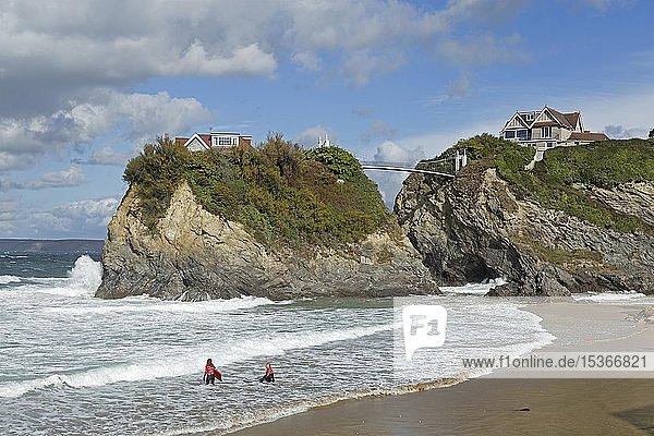 House in The Sea  Towan Beach  Newquay  Cornwall  England  Großbritannien  Europa