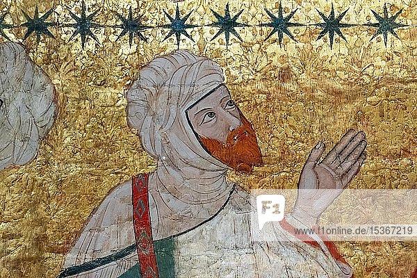 Islamischer Würdenträgern  Deckenmalerei  Sala de los Reyes  Saal der Könige  Nasridenpaläste  Alhambra  Granada  Andalusien  Spanien  Europa