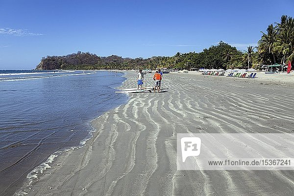 Sandstrand in Samara  Playa Samara  Halbinsel Nicoya  Provinz Guanacaste  Costa Rica  Mittelamerika