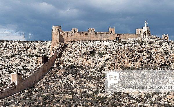 Muralla de Jayrán  medieval fort La Alcazaba de Almería  Andalusia  Spain  Europe