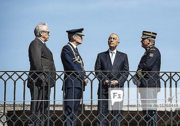 Rede des portugiesischen Präsidenten Marcelo Rebelo de Sousa  Lissabon  Distrikt Lissabon  Portugal  Europa