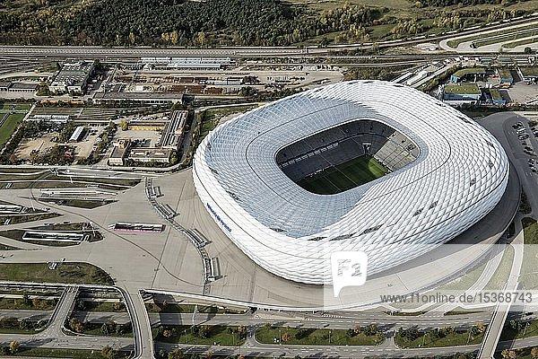 Luftaufnahme  Allianz-Arena  München  Oberbayern  Bayern  Deutschland  Europa