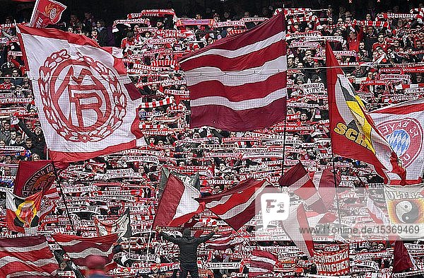 Fanblock Südkurve FC Bayern München FCB  Allianz Arena  München  Bayern  Deutschland  Europa