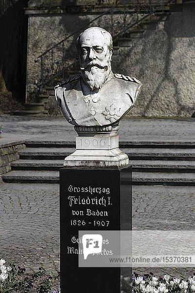 Großherzog Friedrich I von Baden  Gründer des Mainauparkes  Insel Mainau  Bodenseegebiet  Baden-Württemberg  Deutschland  Europa