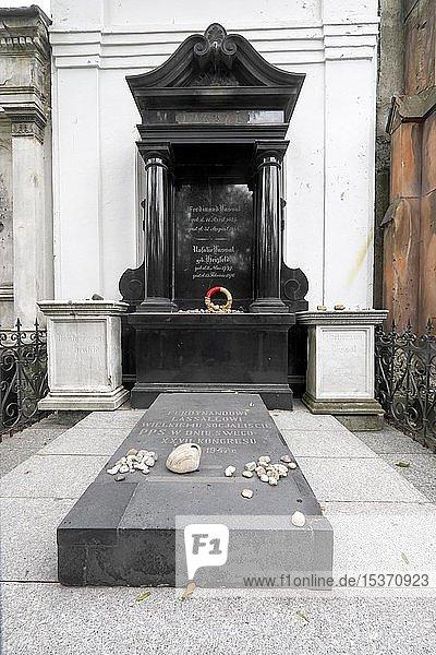 Grab von Ferdinand Lassalle  Alter Jüdischer Friedhof  Breslau  Polen  Europa
