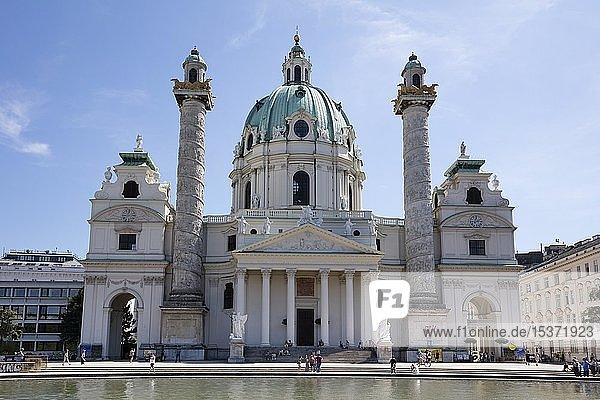 Karlskirche  Wien  Österreich  Europa