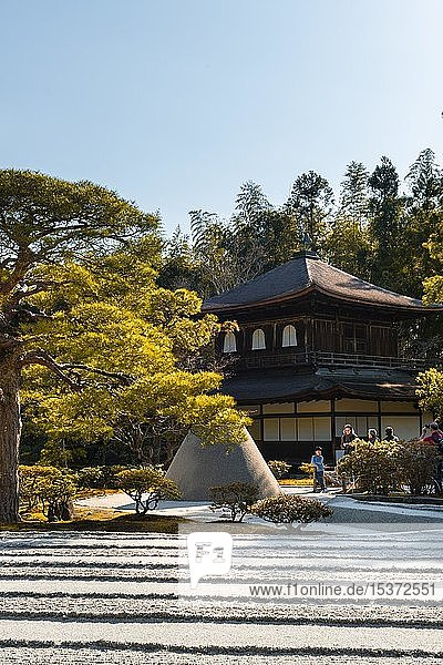 Steingarten  Zen Garten mit Mount Fuji Nachbildung  Jisho-ji  Zen-Tempel  Higashiyama  Kyoto  Japan  Asien