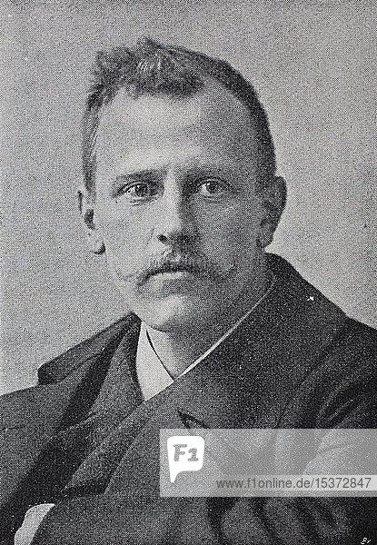 Fridtjof Nansen  10. Oktober 1861  13. Mai 1930  war ein norwegischer Forscher  Wissenschaftler  1879  historischer Holzschnitt  Deutschland  Europa