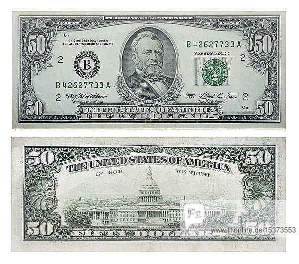 50 US-Dollar des alten Musters  1993  Vorder- und Rückseite  Ukraine  Europa
