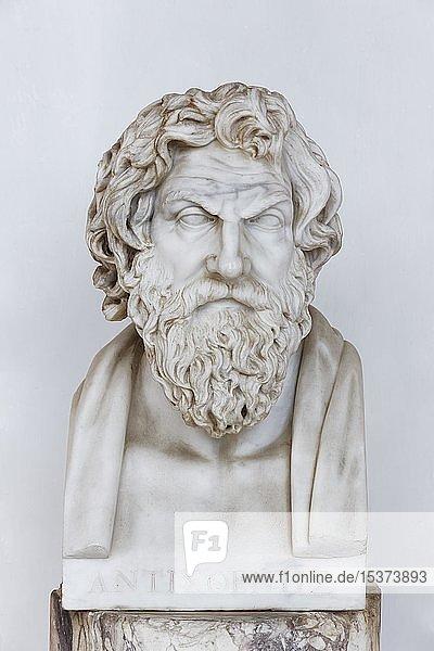 Büste des griechischen Philosophen Anthistenes  Achilleion Palast  Gastouri  Insel Korfu  Ionische Inseln  Griechenland  Europa