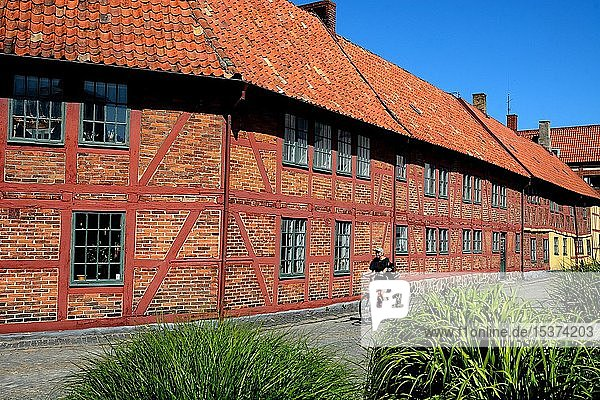Per Helsas gård  Skandinaviens einziges Fachwerkhaus  in Ystad  Schonen  Schweden  Europa