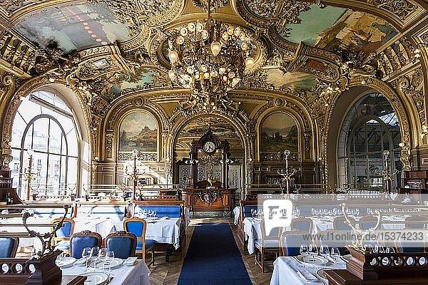 Art deco Bahnhofsrestaurant Le Train Bleu  Gare de Lyon  Paris  Frankreich  Europa