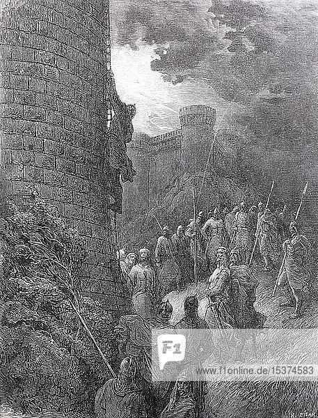 Böhmen I.  1054-1111  war von 1089 bis 1111 der Prinz von Tarent und von 1098 bis 1111 der Prinz von Antiochia. Er war Leiter des Ersten Kreuzzugs  historische Illustration  1880  Deutschland  Europa