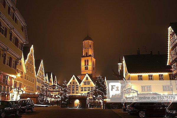 Biberacher Christkindles-Markt,  Biberach a.d. Riss,  Landkreis Biberach,  Oberschwaben,  Baden-Württemberg,  Deutschland,  Europa