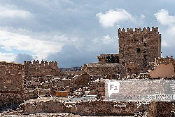 Medieval Fortress La Alcazaba de Almería  Andalusia  Spain  Europe