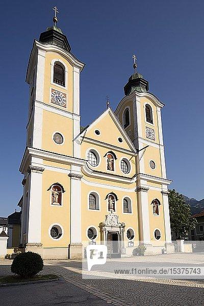 Pfarre  Barockkirche  St. Johann in Tirol  Tirol  Österreich  Europa