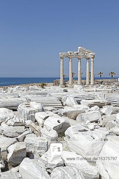 Reste des Apollon-Tempels  Side  Provinz Antalya  Türkei  Asien