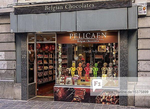 Pelicaen Belgische Schokoladenfabrik  Brüssel  Belgien  Europa